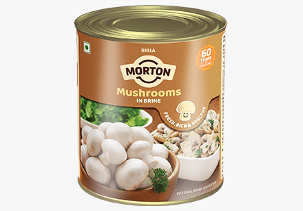 Morton mushroom in brine