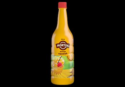 Morton mango squash bottle