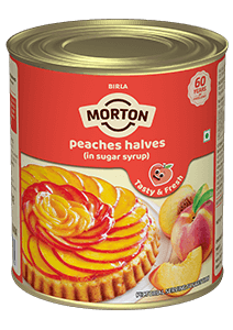 canned peaches halves (in sugar syrup)